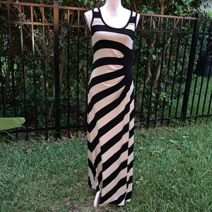 Calvin Klein Ruched Side Maxi Dress Size 10